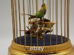 Reuge Swiss Handmade Sainte-Croix Singing Birds Cage Box Automaton Excellent