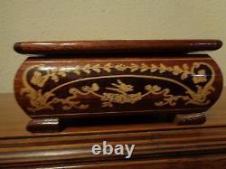 Reuge Swiss Inlaid Wood Jewelry Music Box Large Plays Isola di Capri