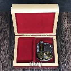 Reuge Swiss Music Box Arkansas Razorback Jewlery Ring Box Custom Box Rare Vintag