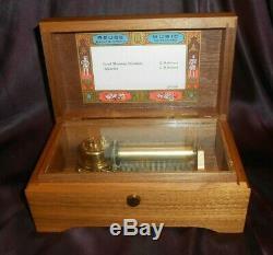 Reuge Swiss Music Box Hairgood Morning Starshine&aquarius-rare 250-video