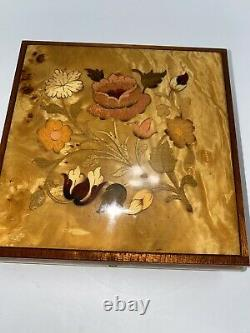 Reuge Swiss Music Box Marquetry Italy Inlay Jewelry Box My Lady Greensleeves