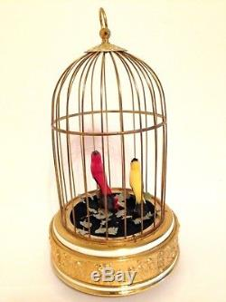 Reuge Swiss Singing Automaton Bird Cage Music Box Excellent Working Order
