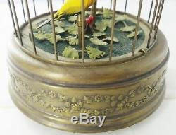 Reuge Swiss Singing Automaton Bird Cage Music Box Working Condition I963