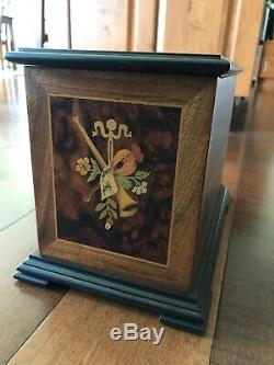 Reuge Thorens Upright 4 1/2 4.5 Disc Music Box Inlaid Marquetry Sorrento Italy