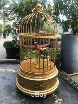 Reuge Voliere De La Cour Singing Bird In Gilded Cage Automaton Music Box