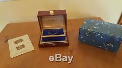 Reuge blue lapis-lazulit vintage singing bird box