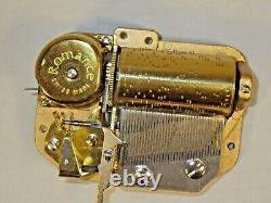 Reuge's Romance Swiss Made 36 Note Music Box Mechanism Works In New Condition