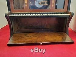 Romance by Reuge 4-1/2 Disc Music Box With Set of Four Discs. Hear it Play