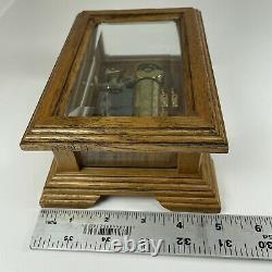 San Francisco Music Box Co. 36 Note 1989 Reuge Swiss Movement Wood Beveled Glass