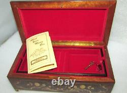 Sorrento Italy Reuge Swiss 30 Note 2 Song Musical Box Jewelery Chest Tchaikovsky