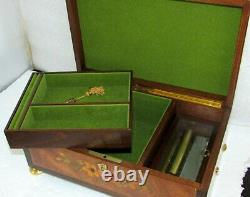 Sorrento Italy Reuge Swiss 72 Note Musical Jewelery Box Beethoven Pour Elise