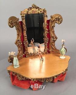 Spielwaren Reuge Music Box Automaton Vanity Ballerina