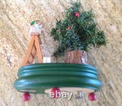SteinbachGerman REUGE CHRISTMAS Music Box Rotating Tree O Tannenbaum Toy Train