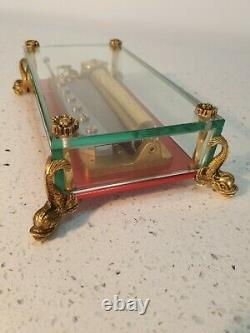 Stunning Dolphin Reuge Music box in Glass Case
