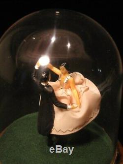 Stunning Vintage Swiss Reuge Dancing Ballroom Couple Ballerina Music Box Works