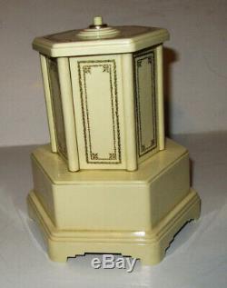 Swiss Harmony Roundelay Mechanical Reuge Music Box Cigarette Dispenser, 50s-60s