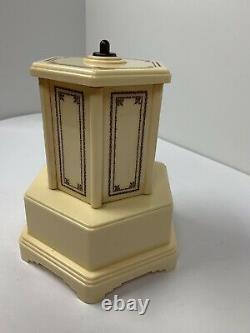 Swiss Harmony Roundelay Mechanical Reuge Music Box Cigarette Lipstick Dispenser