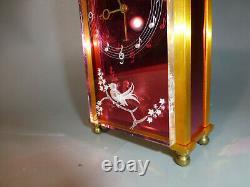Swiss Jaeger Lecoultre Musical Alarm Clock Reuge Music Box 3d Singing Bird Front