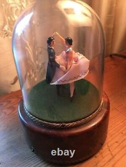 Swiss Reuge Ballerina Couple Dancing Music Box Strangers In The Night