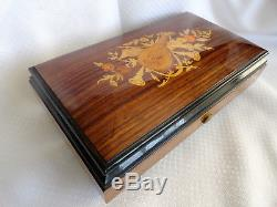Swiss Reuge Music Box Plays 4 Songs With 52 Keys Silent Night Adeste Fideles