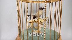 Swiss Reuge Singing Bird Cage Music Box Automaton
