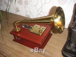 Swiss Reuge Thorens Schweizer Horn Spieluhr 6 Platten vintage music box 6 discs