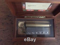 Swiss Reuge Wood Music Box Hungarian Rhapsody 3 Parts Franz Liszt Ch 3/72 32710
