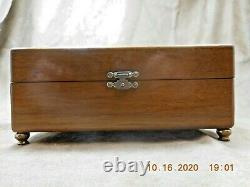THORENS (PRE-REUGE) AD30 DISC PLAYER WALNUT MUSIC BOX With 5 DISCS (SEE VIDEO)
