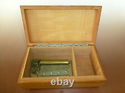 THORENS (PRE REUGE) Swiss Music Box Plays 4 songs music box Beethovan & Mozart