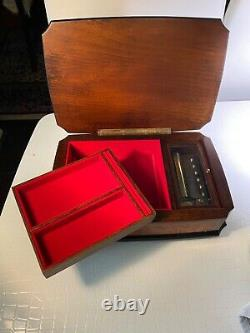 The Music Box Co Italian Inlaid Wood Music Box 72 key Reuge Movement 3 Songs