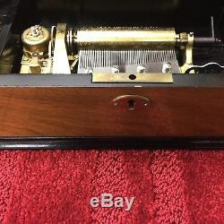 Thorens Pre Reuge Interchangeable Brass Cylinder Swiss Music Box