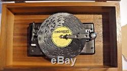 Thorens Swiss Walnut Ad-30 Music Box With 7 Disks (pre-reuge) 1960's