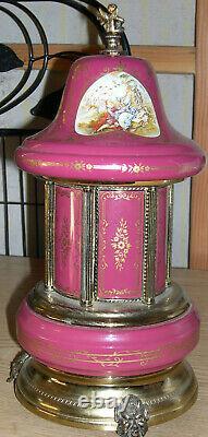 Toleware Music Box Carousel Lipstick/Cigarette Holder Italy