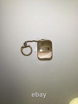 VERY RARE Vintage Swiss Made Reuge IBM Wind Up Music Box Keychain