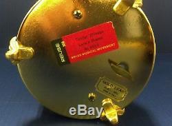 VINTAGE REUGE CAPODIMONTE MUSIC BOX LIPSTICK CIGARETTE HOLDER / TAGS / Gold Leaf