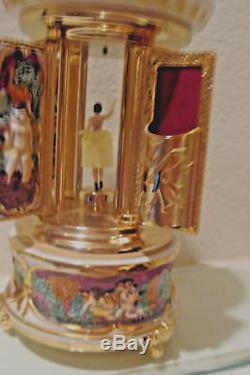 VINTAGE REUGE CAPODIMONTE MUSIC BOX LIPSTICK Holder Ballerina