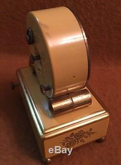 VINTAGE REUGE MUSIC BOX MUSICAL ALARM CLOCK All Working Conditions