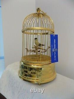 VINTAGE REUGE SINGING BIRD CAGE MUSICAL BOX AUTOMATON made SWIZTERLAND PERFECT