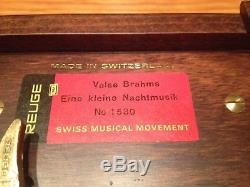 VINTAGE Reuge Swiss Music Box Valse Brahms