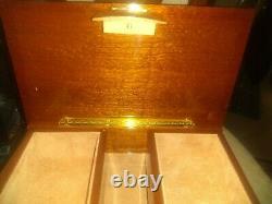 VTG Extraordinary Large Italian Inlaid Wood Jewel Reuge Music Box, no key, new