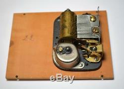 VTG THORENS Pre Reuge Swiss 28 Key Wood Music Box 2 songs Tannhauser Blue Danube