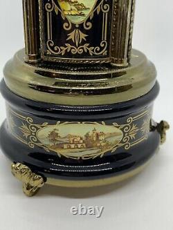 Vintage 1960s Reuge Music Box Lipstick Cigarette Holder Dancing Ballerina Italy