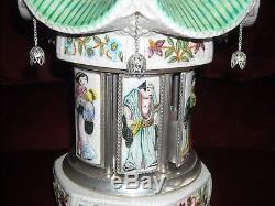 Vintage 20 Reuge Lipstick/cigarette Holder Carousel Music Box Pagoda Geisha