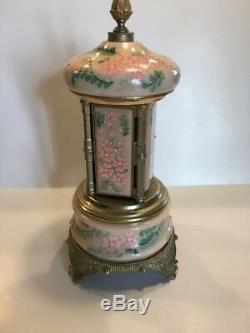 Vintage Antique Reuge Music Box Lipstick Cigarette Holder Italy Vanity Pink