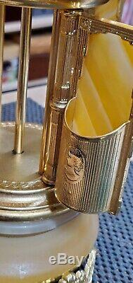 Vintage Antique Swiss Lipstick Cigarette Holder Carousel Onyx Italy Music Box