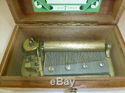 Vintage / Antique Swiss Thorens (Pre Reuge) Music Box 50Key 3Songs (See Video)