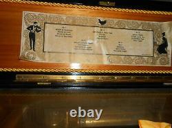 Vintage / Antique Swiss Thorens (Pre Reuge) Music Box, 5 DISCS, SCARCE, NICE