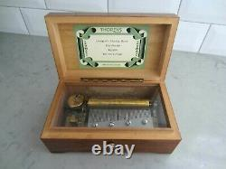 Vintage Antique Thorens 4 Songs Music Box Swiss Pre Reuge 52 Note Wedding Danube