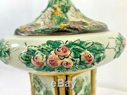 Vintage Capodimonte Italian Cigarette Lipstick Carousel Reuge Music Box #6738
