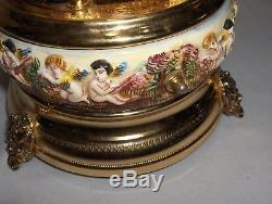 Vintage Capodimonte Ornate Reuge Music Box Cigarette Holder Love Story NICE
